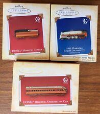 Lionel Train 2004 Ed.  1939 Hiawatha Steam Locomotive Hallmark Xmas Ornament Set