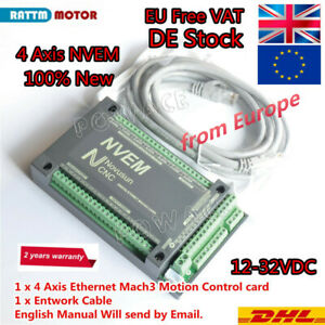 『EU』 4 Axis 200khz nvem CNC Router Controller Ethernet Mach3 Motion Control Card