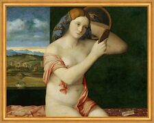 Young Woman at Her Toilette Giovanni Bellini Nackte Frau Handspiegel B A1 02103