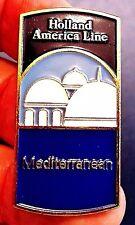 "RARE CLOISONE VERSION..Holland America Line ""MEDITERRANEAN"" Souvenir lapel pin"