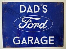 DAD'S FORD GARAGE, SMALL TIN SIGN, ESCORT, ZEPHYR, CORTINA, POP, CONSUL, GIFT