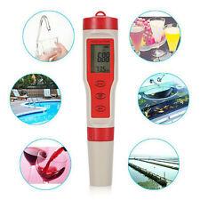 4 in 1 Portable Digital pH EC TEMP TDS Meter Water Quality Monitor Tester Pen