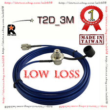 RETECH T2D-3M Car Mobile  COAXIAL CABLE ASSEMBLIES SO239 PL259 for Antenna Mount