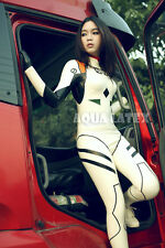 Ayanami Rei EVA 00 Plugsuit Rubber Latex Costume from Neon Genesis Evangelion