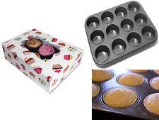 3 x Cupcake Muffin Scatole Regalo detiene 6 CUPCAKES + ANTIADERENTE 12 CUP CAKES Pan Vassoio