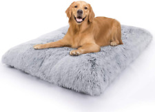 Vonabem Large Dog Bed Crate Pad, Deluxe Plush Soft Pet Beds,Machine Washable Ant