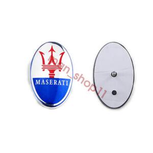 For Maserati Ghibli GT Car Front Hood Emblem Sticker Decal Blue Badge Logo
