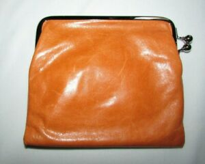 Authentic HOBO Brand Clutch Purse Soft Brown Leather