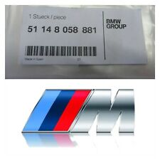 2x BMW M Sport Emblem SILVER Sticker Side Wing Fender Badge 45x15mm UK Seller
