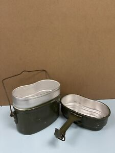 Vintage Hungarian Army Surplus Mess Tins Cooking Set Camping Billy Can Survival