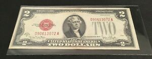 1928 G $2 TWO DOLLAR RED SEAL NOTE circulated D 90613072 A