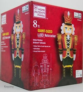 Christmas Gemmy Home Accents Holiday 8 ft Giant Sized LED Nutcracker Inflatable