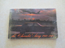 Original 1970 The Chevrolet Story 1911 - 1970 Chev history 79 page booklet