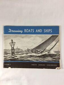 VINTAGE 1959 PITMAN 7 DRAWING BOATS & SHIPS-Soderberg