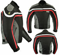 Mens Armoured Cordura Textile Motorbike Motorcycle Short Jacket Racing Sports