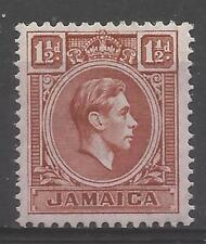 timbres-Jamaïque. 1944. 1½d Rouge Clair Marron Murray Payne: 5 b. Excellent état