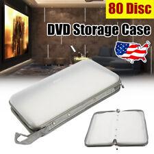 Portable 80 Disc DVD CD Wallet Storage Organizer Hard Plastic Storage Holder US