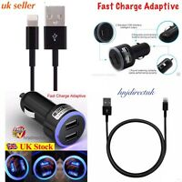 For Apple iPhone 6/5/5S/5C In Car Super Fast Charger + Usb Data Lead Cable