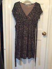 Ladies Summer/Evening Dress. Black and Beige Design. Size 12
