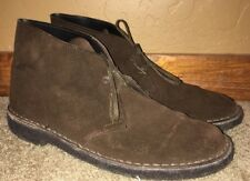 Clarks Chukka Mens Brown Beeswax Soles Casual Shoes Size 42 READ DESCRIPTION