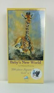 """Suns Out Brand New 200 Piece Jigsaw Art PUZZLE """"Baby's New World""""  *NEW SEALED*"""