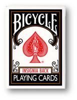 Bicycle Insignia Back (Negro) Jugando a las Cartas Póquer Juego de Cardistry