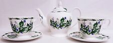 Lily of the Valley Tea Set for Two Bone China Lilies 1 Teapot 2 Cups 2 Saucers