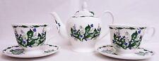 Lily of the VALLEY Tea Set pour deux Bone China Lilies 1 théière 2 Tasses 2 soucoupes