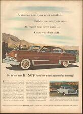 1950's Vintage ad for DeSoto retro Car Fire Dome V-8 Brown Cream   (062319)