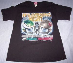 "Philadelphia Eagles ~ "" It's Opening Night "" T-Shirt ~ Lincoln Financial  9/8/03"