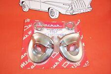 1957 Chevy Chrome Wiper Excutcheons Belair Sedan Hardtop Wagon Convertible Nomad