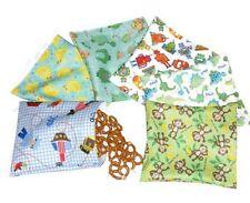 Reusable snack bag and sandwich bag Set of 6 pcs- Mix pattern for boy