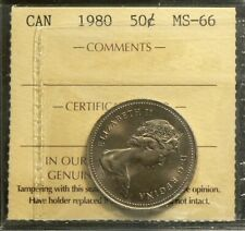1980 Canada 50 Cents ICCS MS 66 Strong Luster #3530