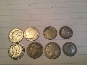 Silver coins Victorian