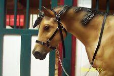 Jaapi BLACK halter w/chain lead - fits Breyer traditional model horses CM