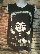 Women's Size Large Belly Shirt Jimi Hendrix, Red Carpet Noir - Small