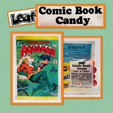 Vintage 1981 Leaf AQUAMAN Comic Book Candy Pack bubble gum container Amurol