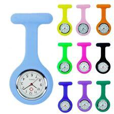 Silicone Pocket Nurse Quartz Watch Fobwatch Clip-on Fob Tunic Medical Brooch