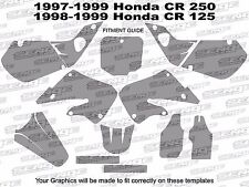 1997 1998 1999 CR 250 GRAPHICS CR250 CR250R R 250R DECO DECALS STICKERS PINK