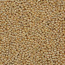 Miyuki Round Seed Beads Size 11/0 (2mm) Galvanized Yellow Gold 24g Tube (B39/3)