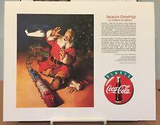Seasons Greetings by Haddon Sunblom Limited Edition Lithograph Coca-Cola Santa