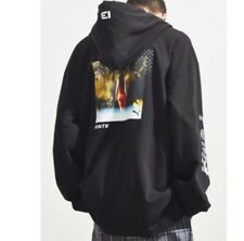 NWOT Puma By Rihanna Oversized Black Pull Over Hoodie Graphics on Back Size XS