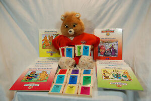 Vintage 1992 Teddy RuxPin w/ 13 Books & Tapes Sound Works No Motion