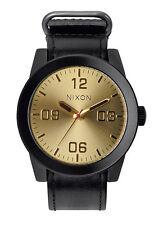 NEW Nixon A243-010 Corporal Black Gold Watch