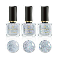 6ml Glitter Holographicss Top Coat Clear Sequined Nail Polish  BORN PRETTY