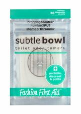 Subtle Bowl | Toilet Odor Poo Neutralizer | Dissolvable Toilet Paper Mint Scent