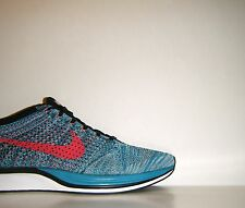 Nike Lunar Flyknit Racer Neo Turquoise Sz. 13 MultiColor HTM Trainer 526628-404
