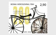 Draisine Bicycle 200 Years mnh stamp 2017 Bosnia & Herzegovina (Croat) #353