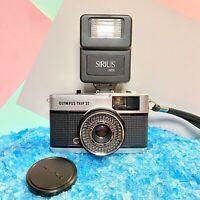 OLYMPUS Trip 35 Camera & Flash Guaranteed Retro,Lomo,Vintage, Film Tested!