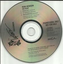 RON HENSON On Point EDIT & INSTRUMENTAL PROMO Radio DJ CD Single RONNIE 1995